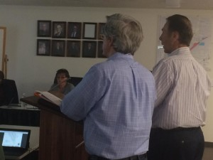 MJB Enoch LLC partners present their proposal for a new development to City Council, Enoch City Building, Enoch, Utah, April 7, 2016 | Photo by Carin M. Miller, St. George News