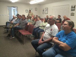 Townsfolk gathered to hear MJB Enoch LLC partners present their proposal for a new development to City Council, Enoch City Building, Enoch, Utah, April 7, 2016 | Photo by Carin M. Miller, St. George News