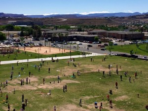 The 17th annual Dixie Power Kite Festival took place on the Dixie State University Encampment Mall in St. George, Utah, April 23, 2016 | Photo by Cathy Eberhart Barber, St. George News