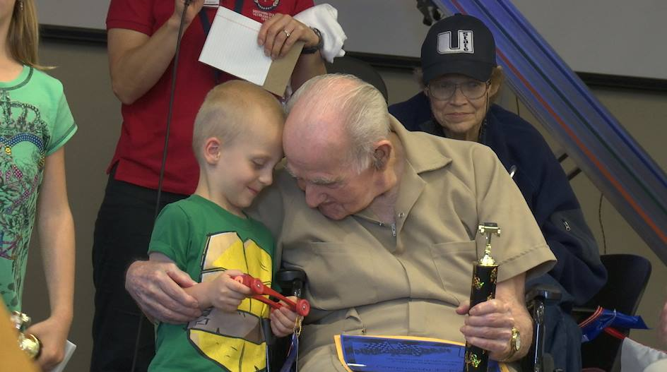 Family members participated in Veterans and their families participated in the Pinewood Derby Extravaganza held at the Southern Utah Veterans Home, Ivins, Utah, April 30, 2016|Photo by Austin Peck, St. George News