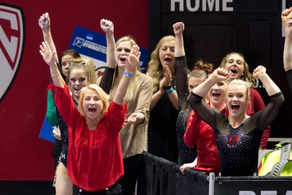 Coach Megan Marsden and the Red Rocks. | Photo courtesy Utah Athletics