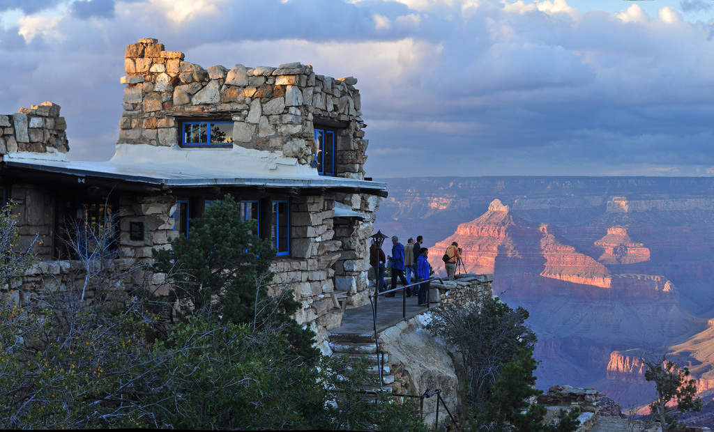 For illustration purposes only, this Oct. 6, 2010, photo taken at sunset shows Lookout Studio near the South Rim of Grand Canyon National Park, Arizona | National Park Service photo by Michael Quinn, St. George News