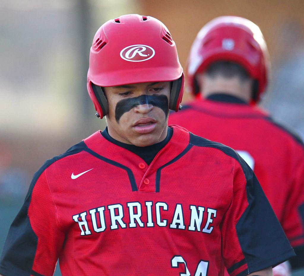 Hurricane's Nick McDaniel (34), Snow Canyon vs. Hurricane, Baseball, St. George, Utah, Apr. 26, 2016, | Photo by Robert Hoppie, ASPpix.com, St. George News