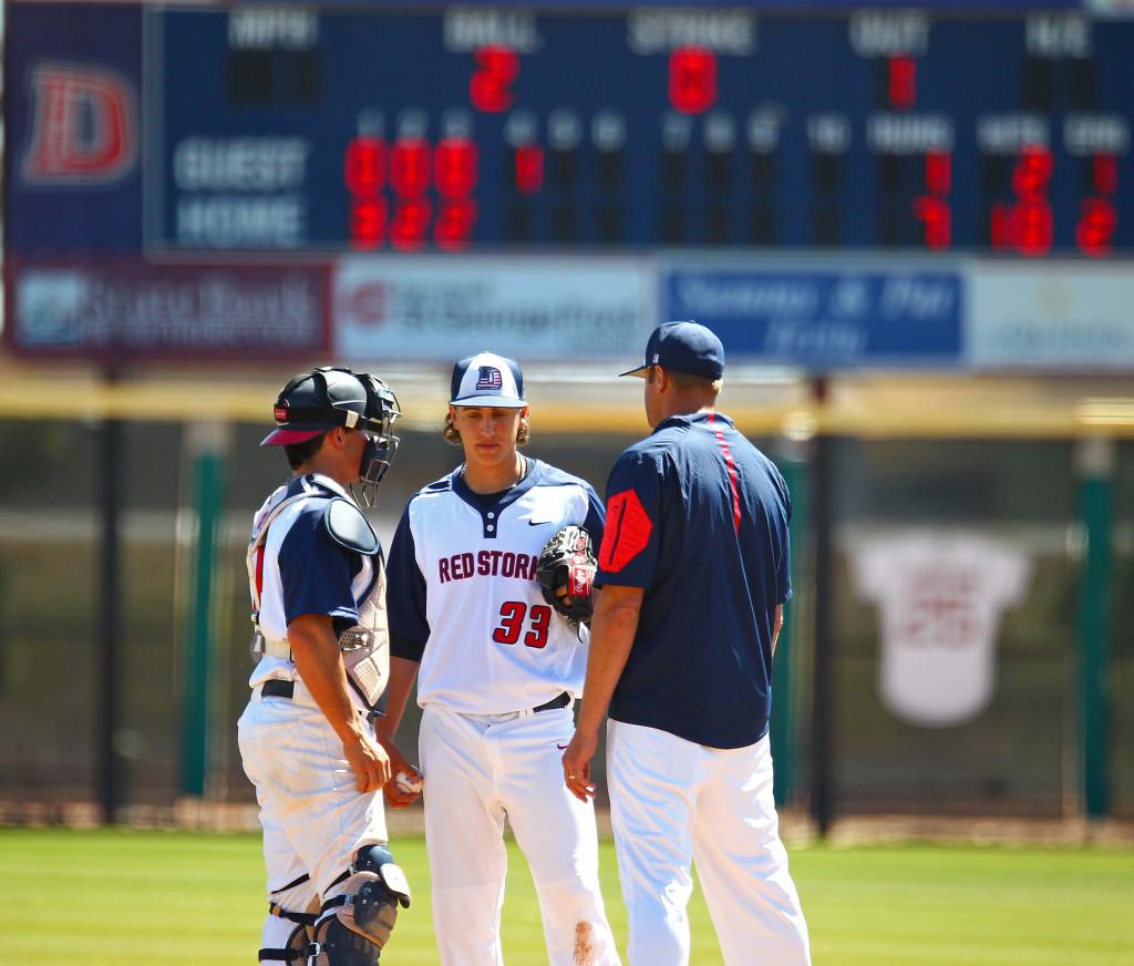 Dixie State University vs. Fresno Pacific University, Baseball, St. George, Utah, Apr. 2, 2016, | Photo by Robert Hoppie, ASPpix.com, St. George News