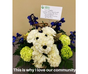 Flower arrangement sent to the Unified Police Department as a result of K-9 Aldo's passing, Salt Lake County, Utah, April 29, 2016 | Photo courtesy of Salt Lake County Sheriff Jim Winder, St. George News
