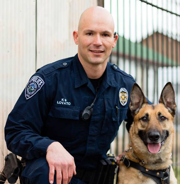 Officer And His Service Dog
