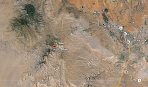 Map shows location of the Apex Mine where a man was believed missing Saturday | Image courtesy of Google Maps