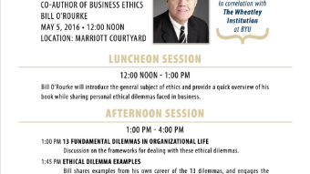 Business Ethics seminar featuring Bill O'Rourke held at