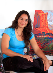 Artist Erin Hanson. Her art exhibition through May 28, 2016 is at the St. George Atrt Museum. Undated | Photo courtesy of Erin Hanson, St. George News