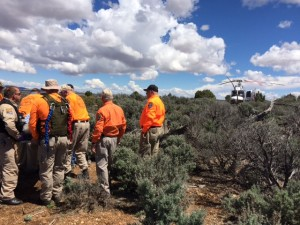 Camille Humphrey, 87, of Washington City, was found by rescuers more than 10 miles away from her vehicle after spending two days on the Arizona Strip. The elderly woman was found lying on the ground, motionless behind a bush, Mohave County, Arizona, April 12, 2016 | Photo courtesy of Arizona Department of Public Safety, St. George News