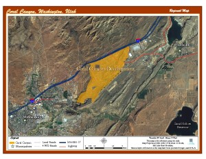 Map of Coral Canyon development | Image courtesy of State Institutional Trust Land Administration, St. George News