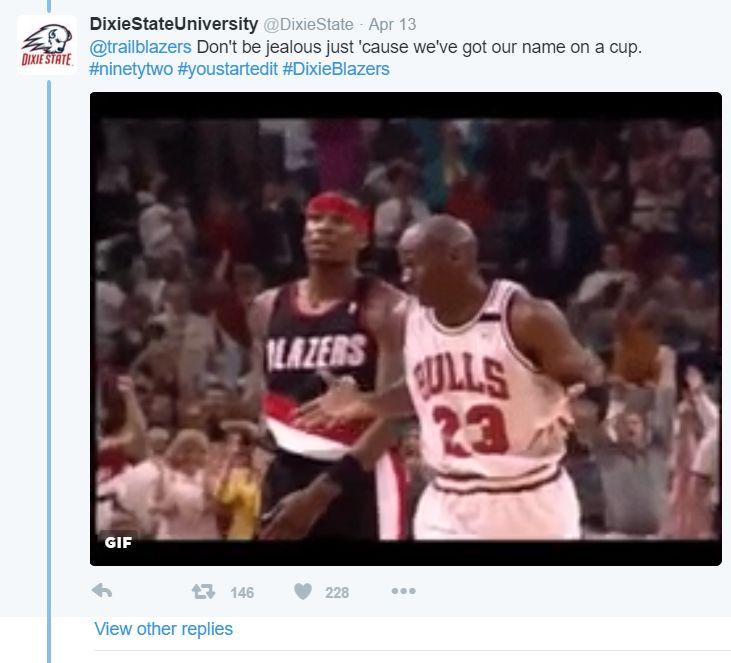 Portland Trail Blazers Roster 1992: Twitter Tussle: Dixie State Trailblazers Vs. Portland