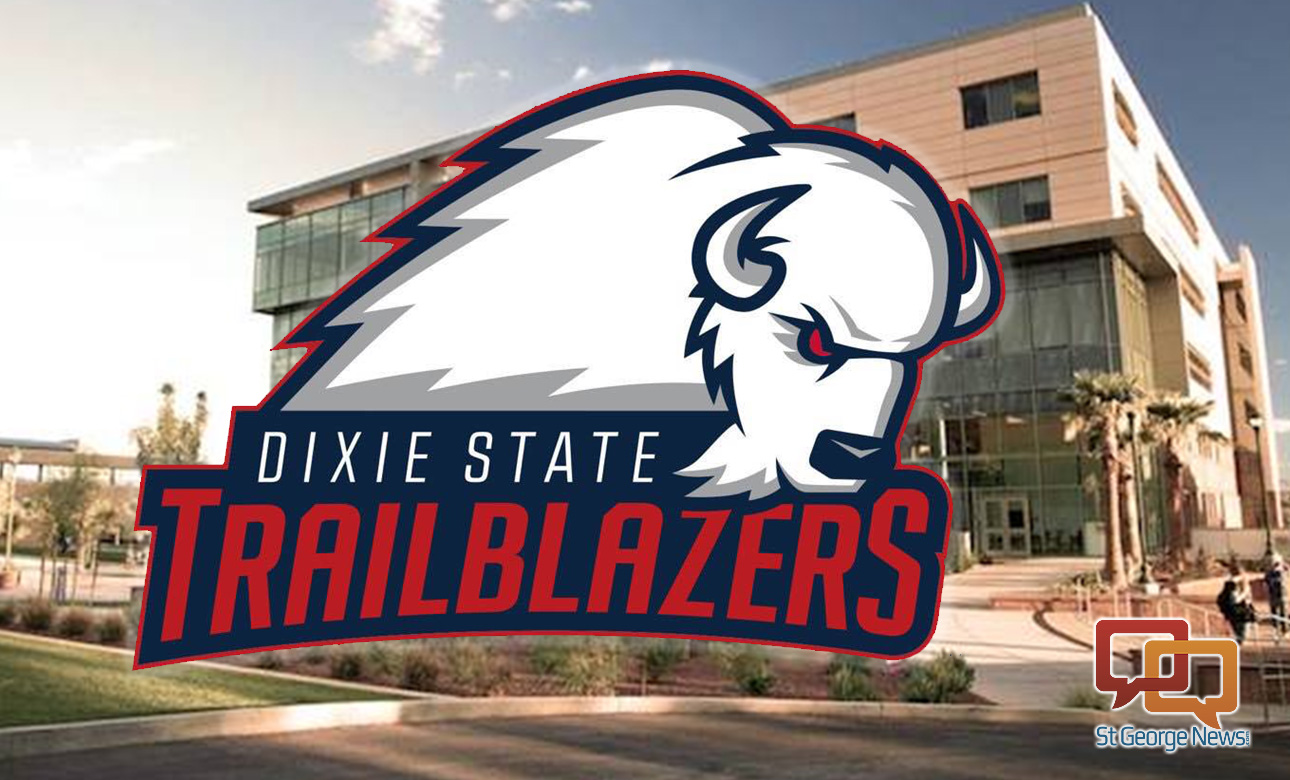 "Dixie State officials reveal ""Brooks the Bison"" as the new mascot and identity for the university during an unveiling ceremony held Monday on campus. St. George, Utah, April 11, 2016 