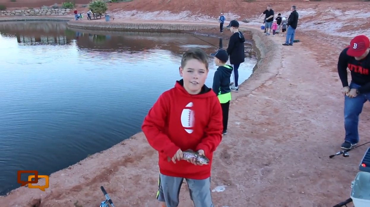 """Annual """"St. George Fishing Derby"""" was held Saturday at the Tawa Ponds in St. George, Utah, April 2, 2016 