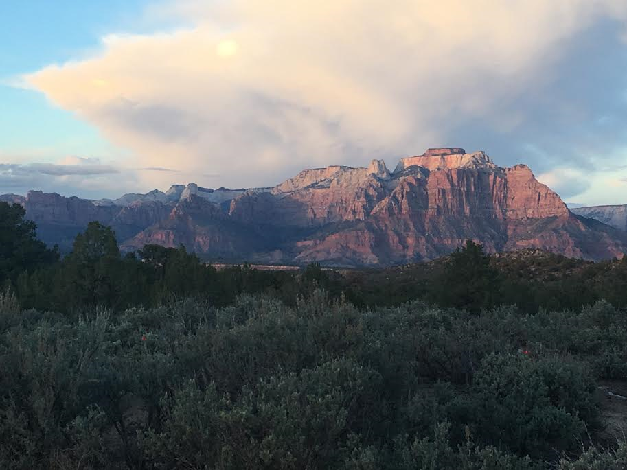 Views of Zion National Park from the road to Gooseberry Mesa. Apple Valley, Utah, April 12, 2016 | Photo by Hollie Reina, St. George News