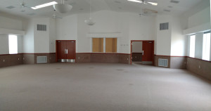 Interior view of the Steed Sunday School building, which will soon be converted into a Washington County branch library, Hildale, Utah, date unspecified | Photo courtesy of Joel Tucker, St. George News