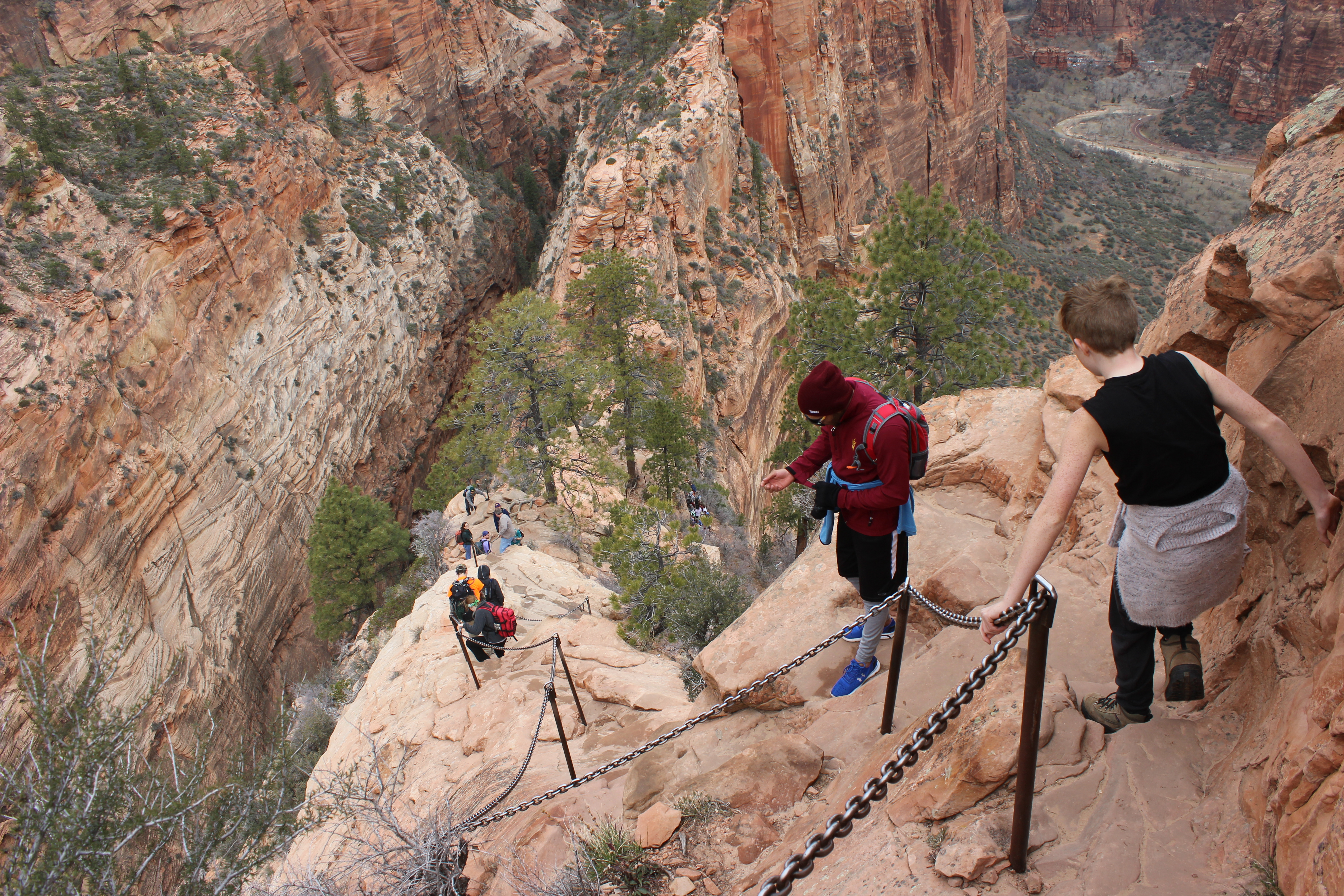 Rugged terrain abounds in the desert of Southwest Utah. This 2015 photo shows the last leg to the top of Angels Landing in Zion National Park, Utah, March 11, 2015 | Photo by Don Gilman, St. George News