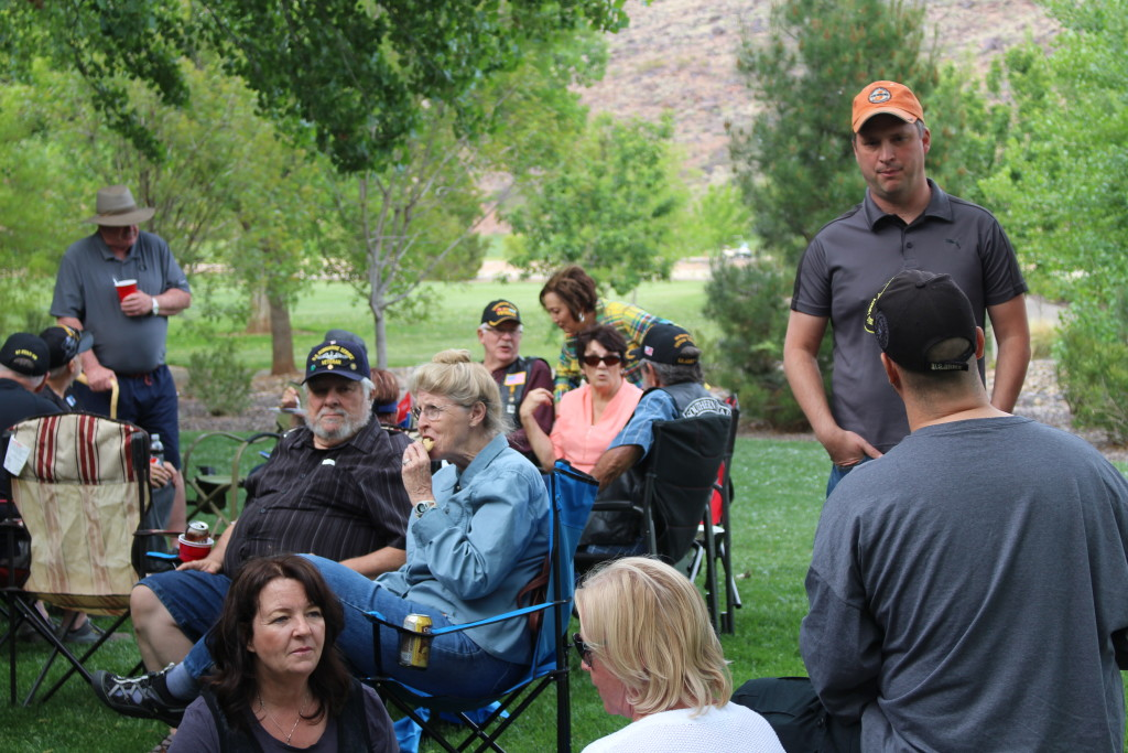 Many military veterans and their families gather at Tonaquint Park for the Vietnam Veterans of America Barbeque, St. George, Utah, Apr. 14, 2016| Photo by Cody Blowers, St. George News
