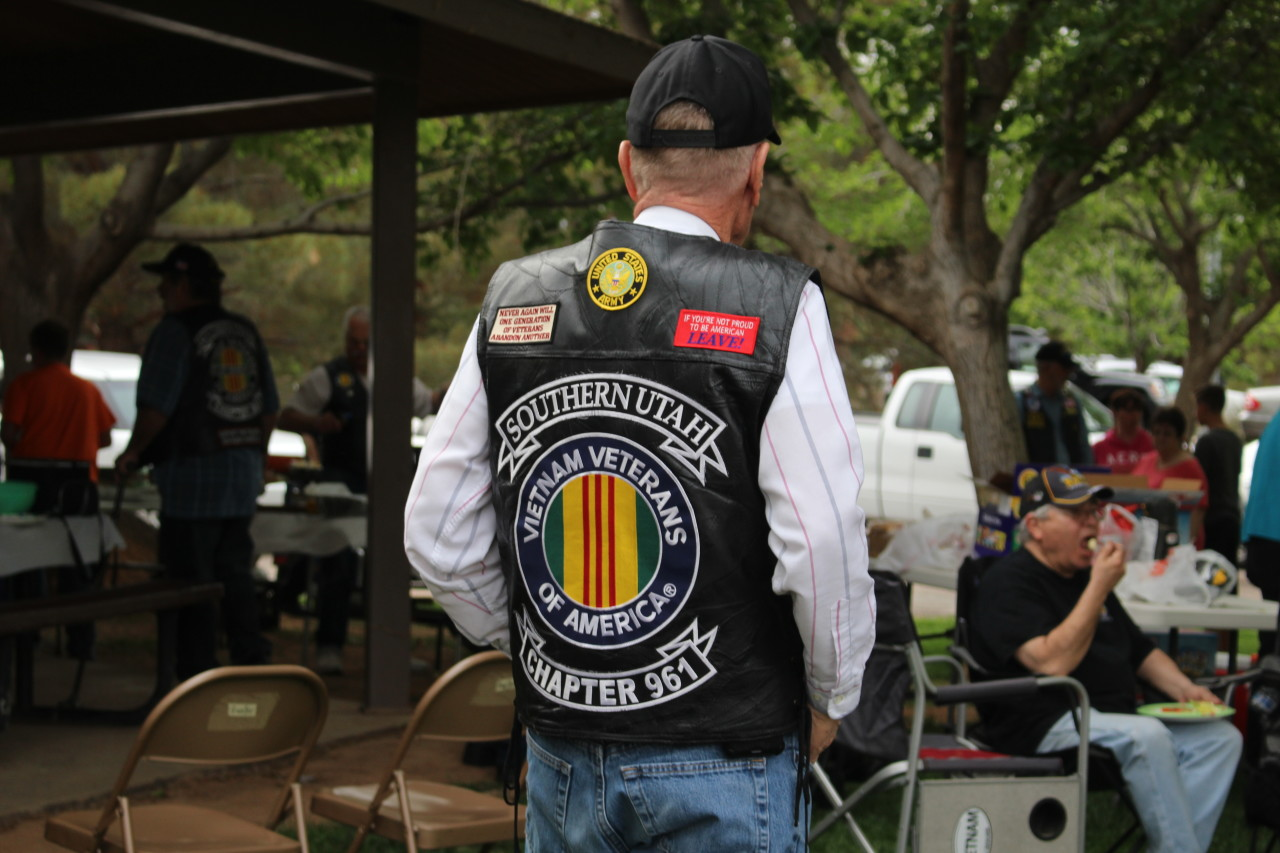 Vietnam Veterans of America Chapter 961 member, Vietnam Veterans of America Barbeque, Tonaquint Park, St. George, Utah, Apr. 14, 2016| Photo by Cody Blowers, St. George News
