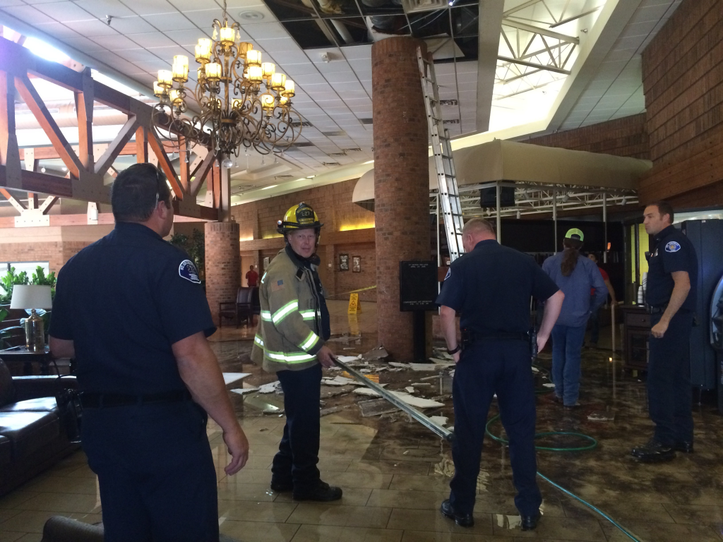 Ceiling collapse Red Lion Inn StGeorgeNews.com