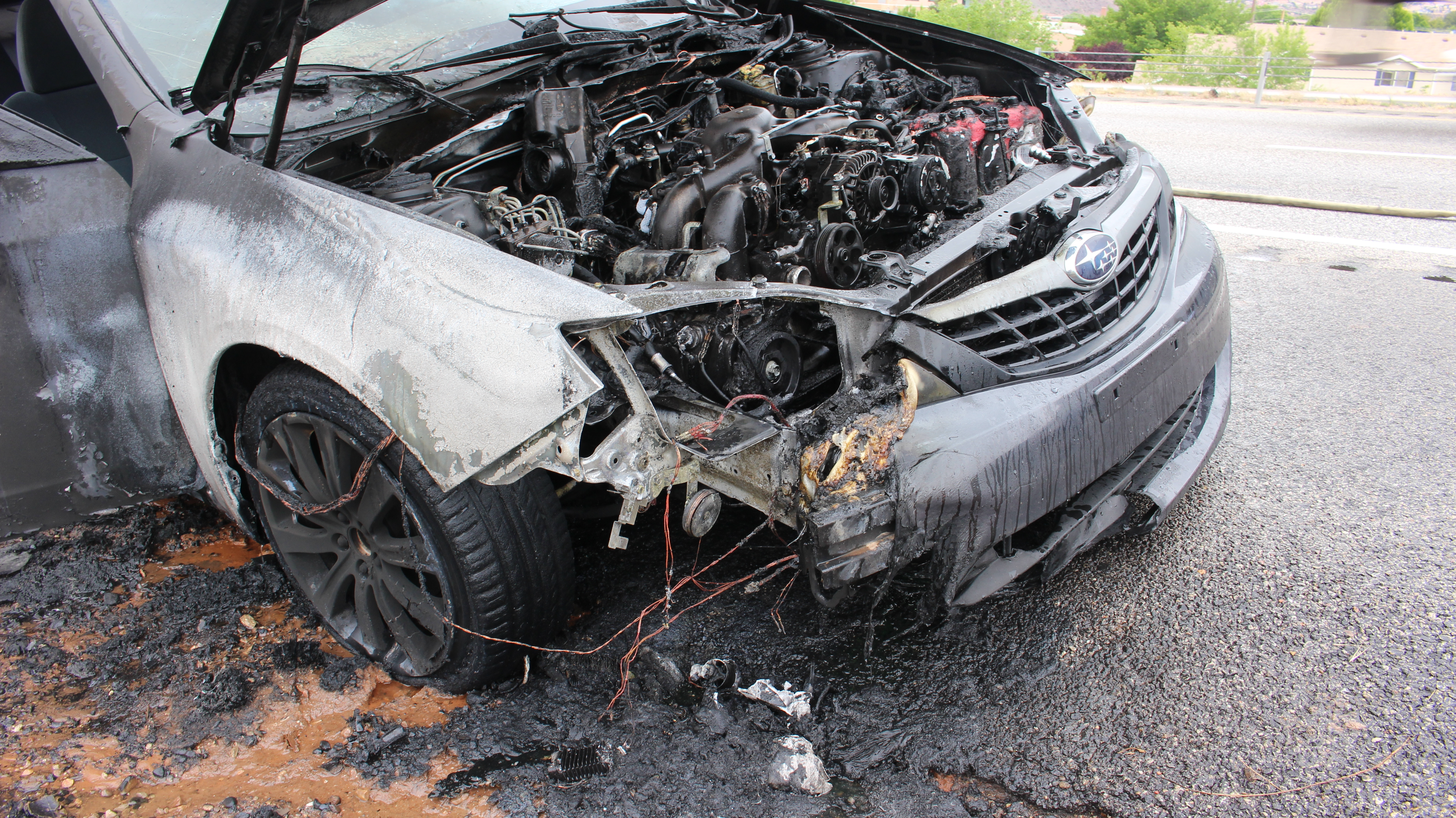 2016 Monte Carlo Ss >> Vehicle fire on Interstate 15 destroys car, disrupts traffic | St George News