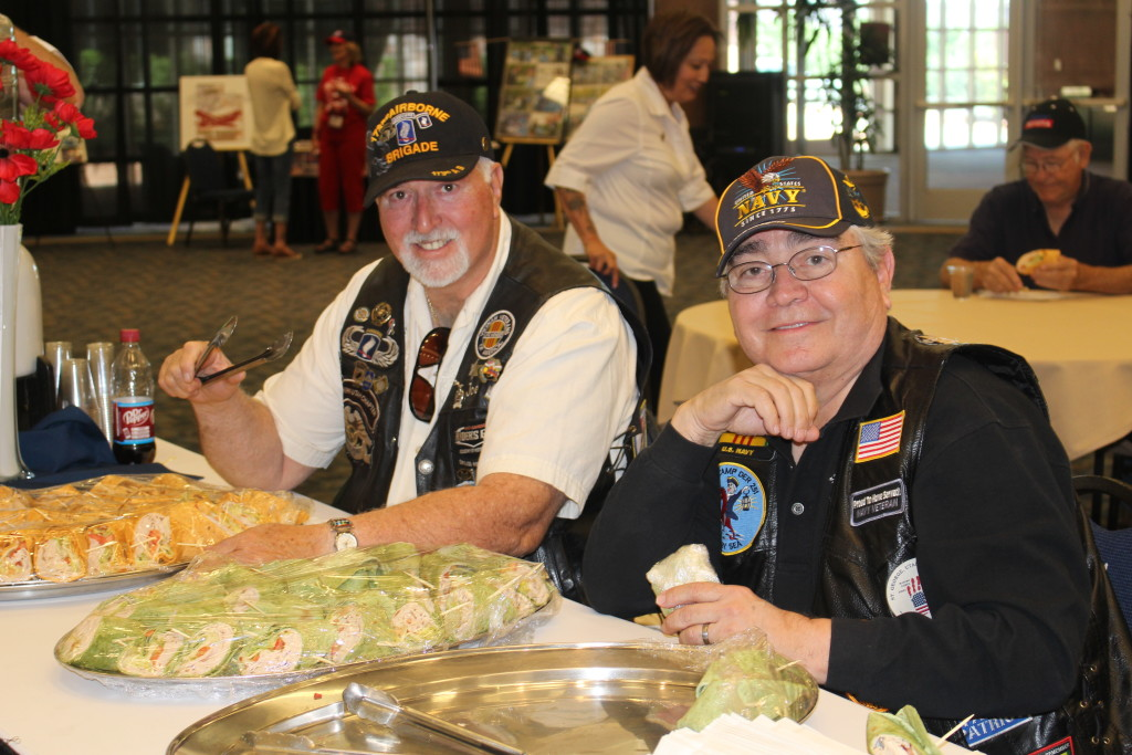 L-R: Joe Wells, Ernie Aguayo at convention hosted by the Vietnam Veterans of America, Southern Utah Chapter 961, Dixie Convention Center, St. George, Utah, April 23, 2016|Photo by Cody Blowers, St. George News