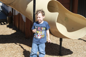Lachlan Hughes, 4, plays on the playground at Park Discovery Friday after it was officially reopened it to the public. Cedar City, Utah, April 22, 2016 | Photo by Tracie Sullivan, St. George/Cedar City News