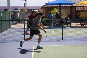 Competitors playing pickleball at the USA Pickleball Association West Regional Tournament held in St. George, Utah, April 15-16, 2016   Photo by Don Gilman, St. George News