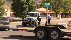 An out of control driver struck a vehicle, jumped curbs and drove through homeowner's lawns before being arrested on Thursday afternoon in St. George, Utah, April 28, 2016 | Photo by Don Gilman, St. George News