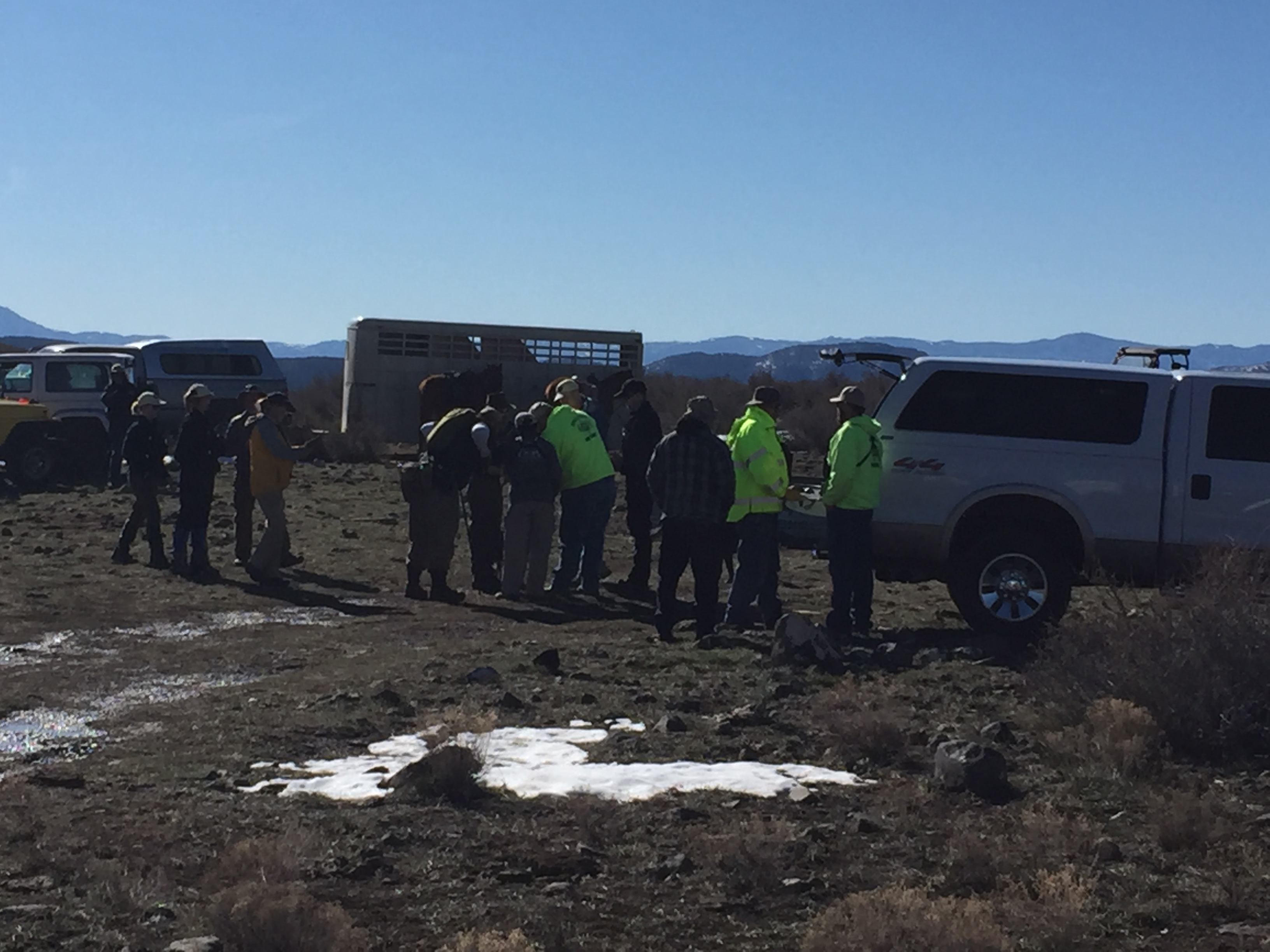 Iron County Sheriff's Search and Rescue crews prepare recovery efforts for Daniel Michael Brown, 34, who was reported missing Tuesday morning from the Kane Springs area. Iron County, Utah, April 2, 2016 | Photo courtesy of Iron County Sheriff's Office, Cedar City News