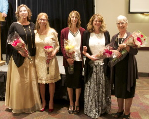 Hope Pregnancy Care Centers past and present directors (l-r) Jessica Blevins, Tracie Tice, Shannon Gerber, Tami Campbell, Merry Jo Cook. St. George, Utah, April 9, 2016, | Photo by Rhonda Tommer, St. George News.