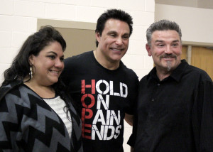 Former professional wrestler and motivational speaker Marc Mero takes time to sign autographs, shake hands and take pictures with audience members after the presentation, Paiute Tribal Center, Cedar City, Utah, March 31, 2016 | Photo by Carin Miller, St. George News