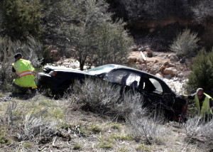 St. George man walks six miles to find help after an early morning tumble over a 10-foot cliff into Coal Creek, state Route 14, Iron County, Utah, April 3, 2016 | Photo by Carin Miller, St. George News