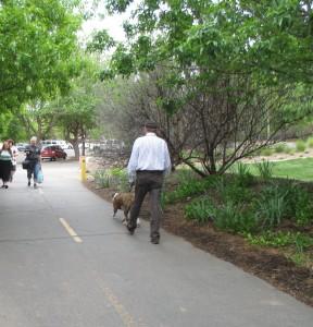 Pedestrians on the Santa Clara River Trail at Tonaquint Park, St. George, Utah, April 13, 2016   Photo by Kristine Crandall, St. George News