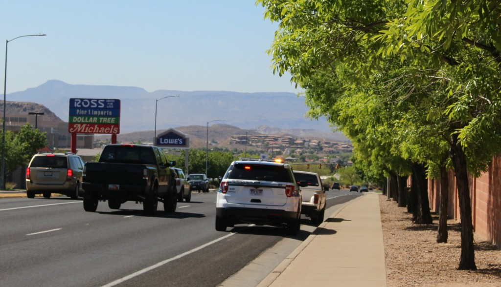 Ford Interceptor on a traffic stop on River Road, St. George, Utah, April 27, 2016|Photo by Cody Blowers, St. George News