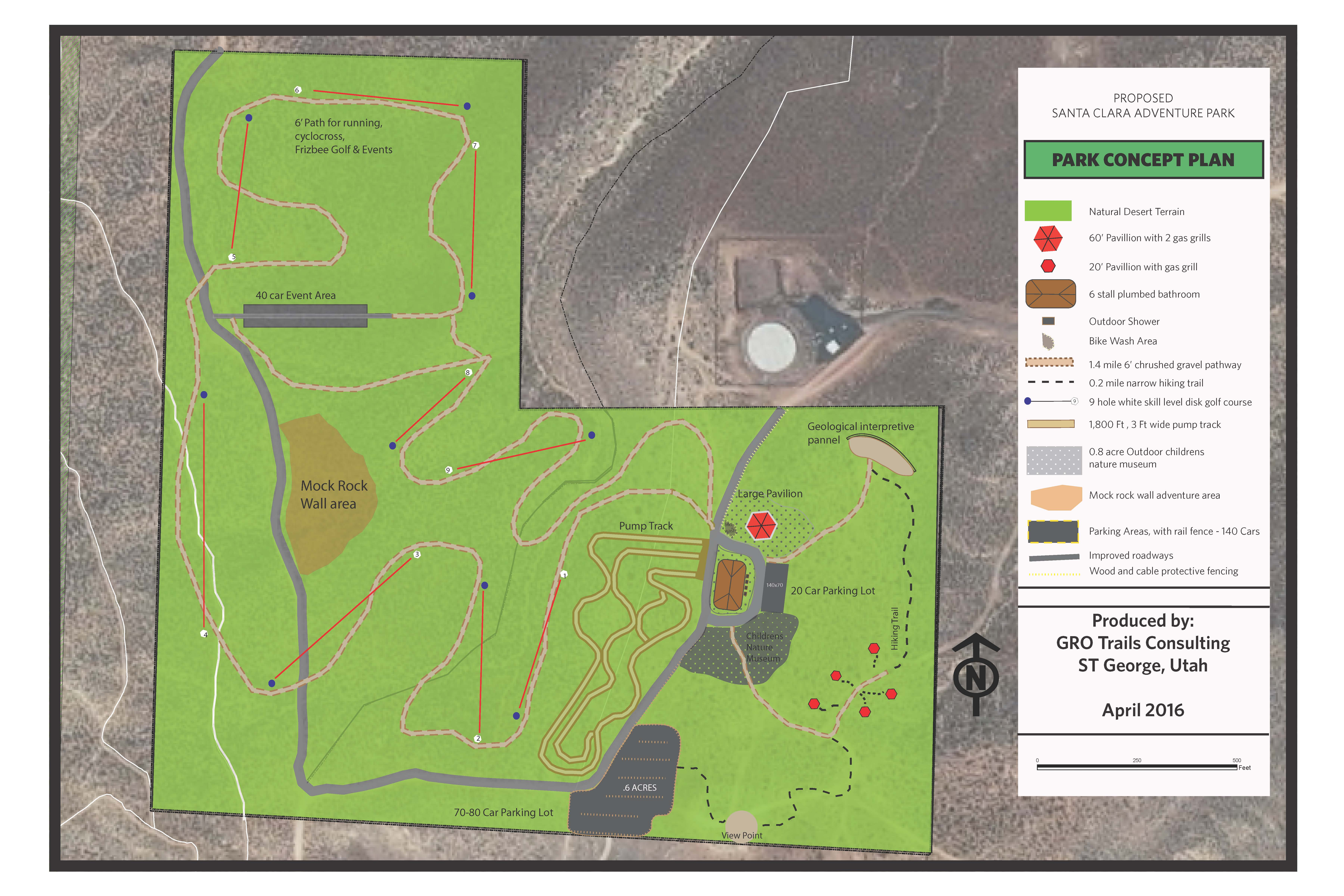Concept plan for new outdoor sports park planned in the South Hills area of Santa Clara | Image courtesy of Santa Clara City, St. George News