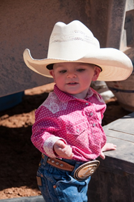 Briar Atkin accompanying her parents on branding day, Atkin Ranch, Date not given | Photo courtesy of Kathy and Jim Lillywhite, St. George News