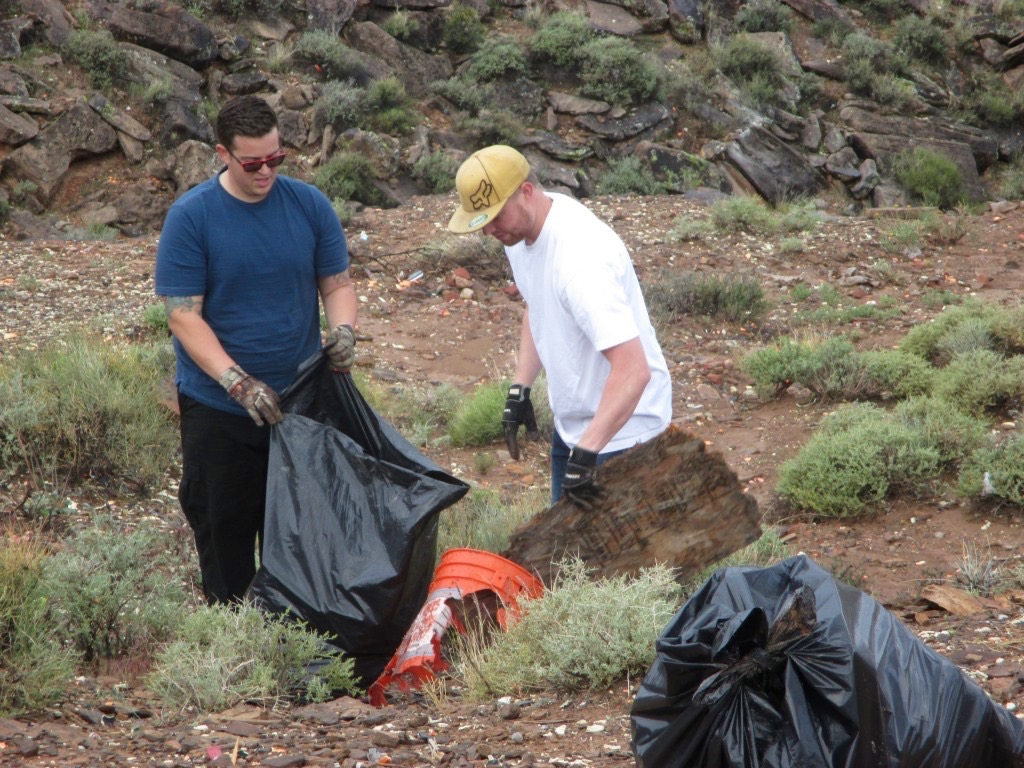 Volunteers clean up trash on public land in Warner Valley, Utah, April 9, 2016 | Photo courtesy of Bureau of Land Management, St. George News