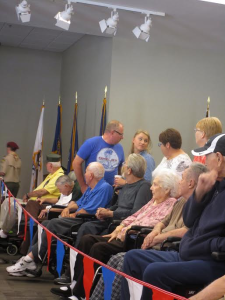 Residents, staff and visitors of the Southern Utah Veterans Home enjoy a pinewood derby race, Ivins, Utah, April 18, 2015 | Photo courtesy of Vie Van Noy, St. George News