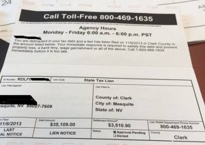 Fake tax lien scams have been reported in Mesquite, Nevada. Undated | Photo courtesy of Mesquite Police Department, St. George News