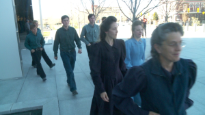FLDS Church members leave federal court on Wednesday, refusing to comment on Lyle Jeffs' detention hearing. Salt Lake City, Utah, April 6, 2016 | Photo by and courtesy of Fox 13 News, St. George News