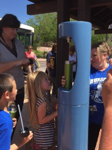 The first hydration station opens in Springdale, Utah, April 22, 2016   Photo courtesy of Stan Smith, St. George News