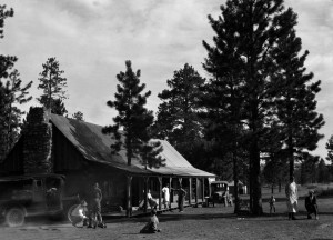 "The original ""Tourist Rest"" lodge in Bryce Canyon. Bryce Canyon, circa 1920 