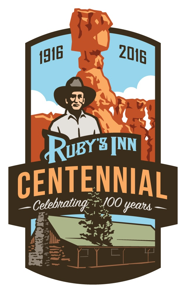 Ruby's Inn centennial logo. Location and date not specified | Image courtesy of Ruby's Inn, St. George News