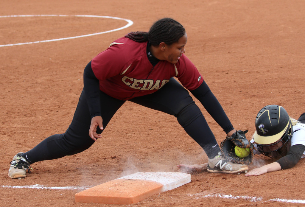 Cedar's Pua Johnson (23) Desert Hills vs. Cedar, Softball, St. George, Utah, Apr. 15, 2016, | Photo by Kevin Luthy, St. George News