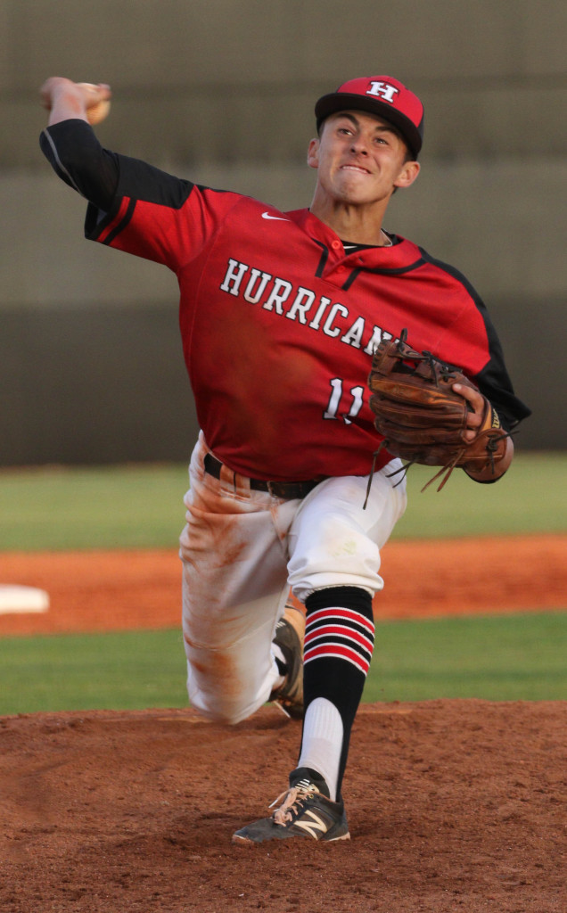 Hurricane's Alec Flemetakis (11), file photo from Pine View vs. Hurricane, Baseball, St. George, Utah, Apr. 15, 2016, | Photo by Kevin Luthy, St. George News