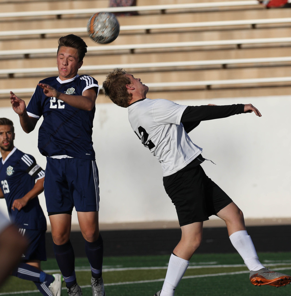 Pine View's Bo Bundy (12), Pine View vs. Snow Canyon, Soccer,  St. George, Utah, Apr. 15, 2016,   Photo by Kevin Luthy, St. George News