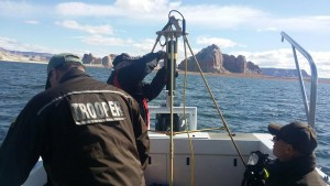 Search crews located the body of a missing Sevier County man at Lake Powell, April 17, 2016 | Photo courtesy of DPS, St. George News