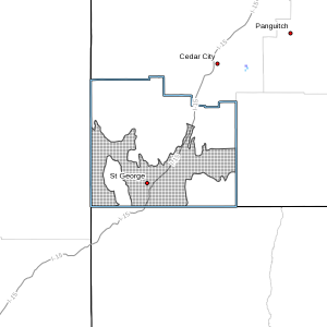 A high wind watch is in effect for the Dixie region of Southern Utah, including Zion National Park and St. George. April 14, 2016 | Image courtesy of National Weather Service, St. George News