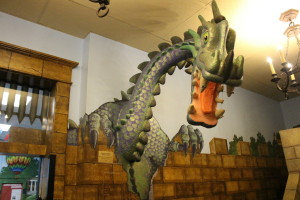 """Rufus,"" the St. George Children's Museum dragon mascot, St. George, Utah, April 27, 2016 